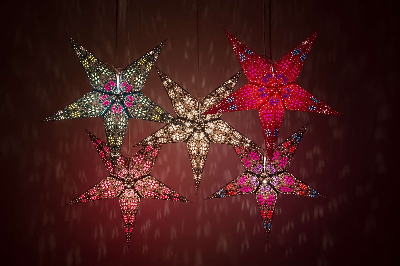 Firework Decorative Paper Star Lanterns & Light Shades