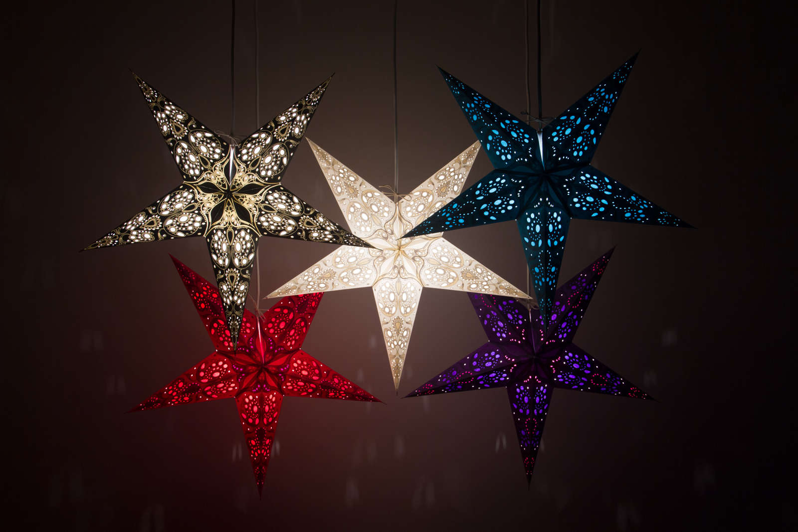 Lace Decorative Paper Star Lanterns & Light Shades