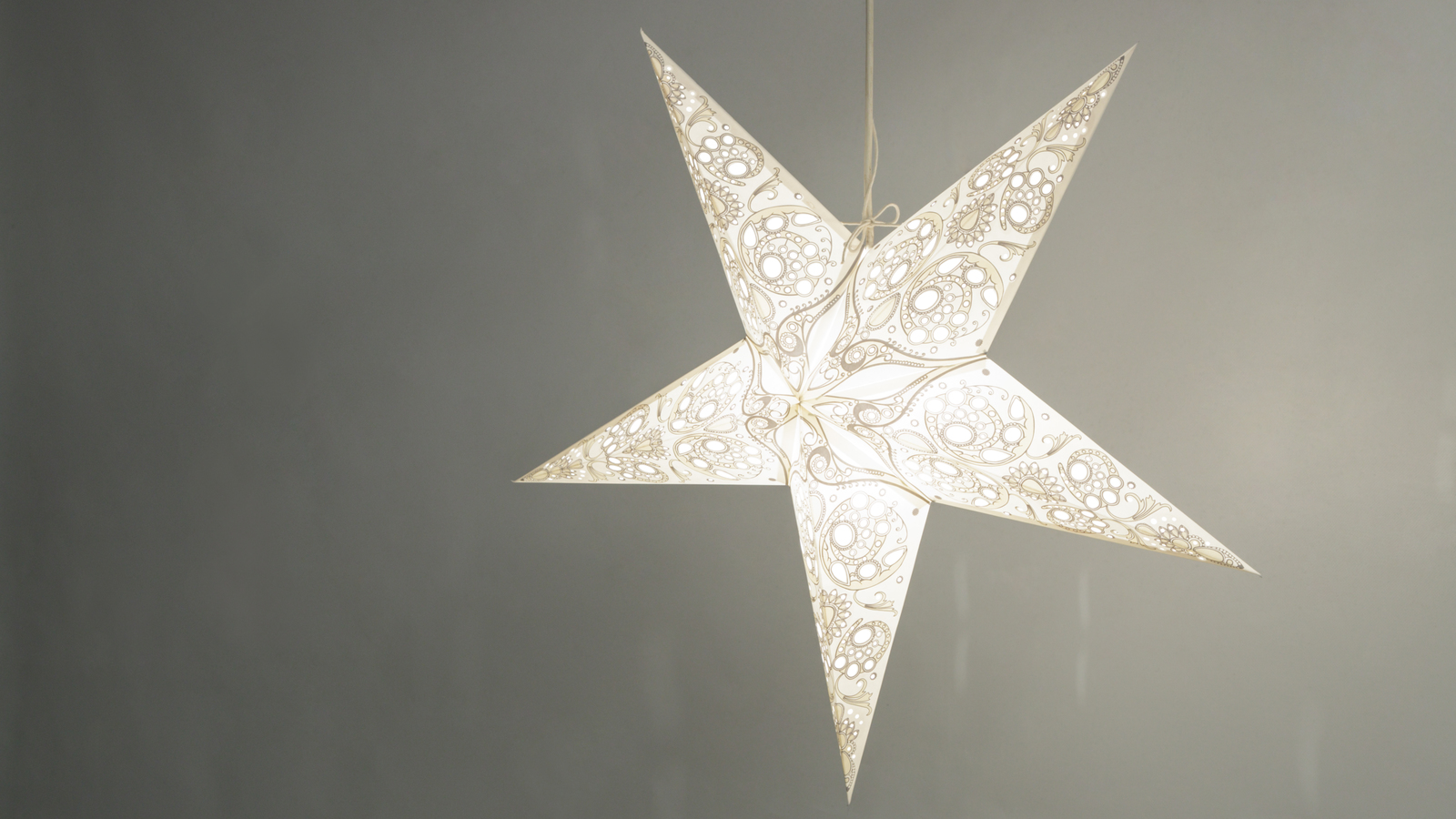 Lace Paper Star Light Shades Ceiling Hanging Lampshades