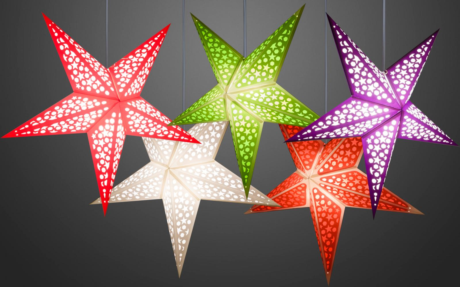 Mosaic Decorative Paper Star Lanterns & Light Shades
