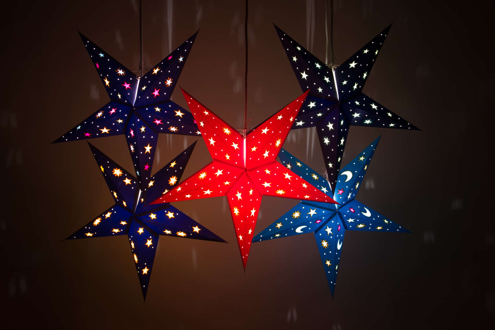 Sky Decorative Paper Star Lanterns & Light Shades