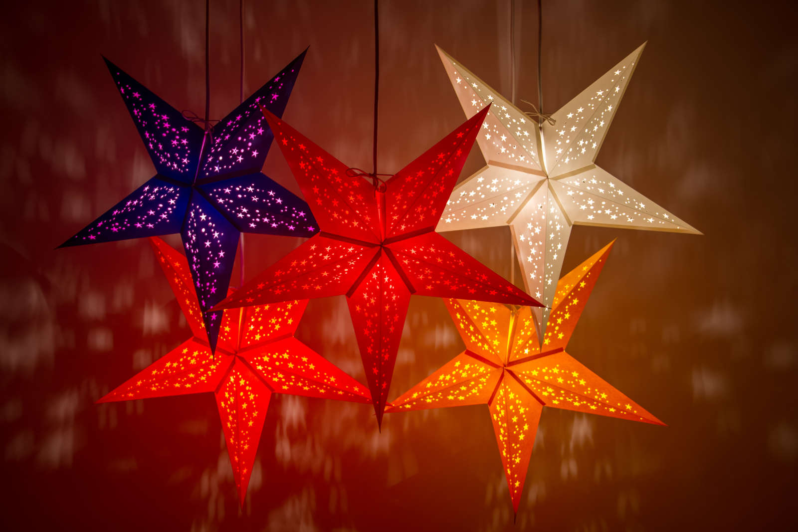 Starry Decorative Paper Star Lanterns & Light Shades
