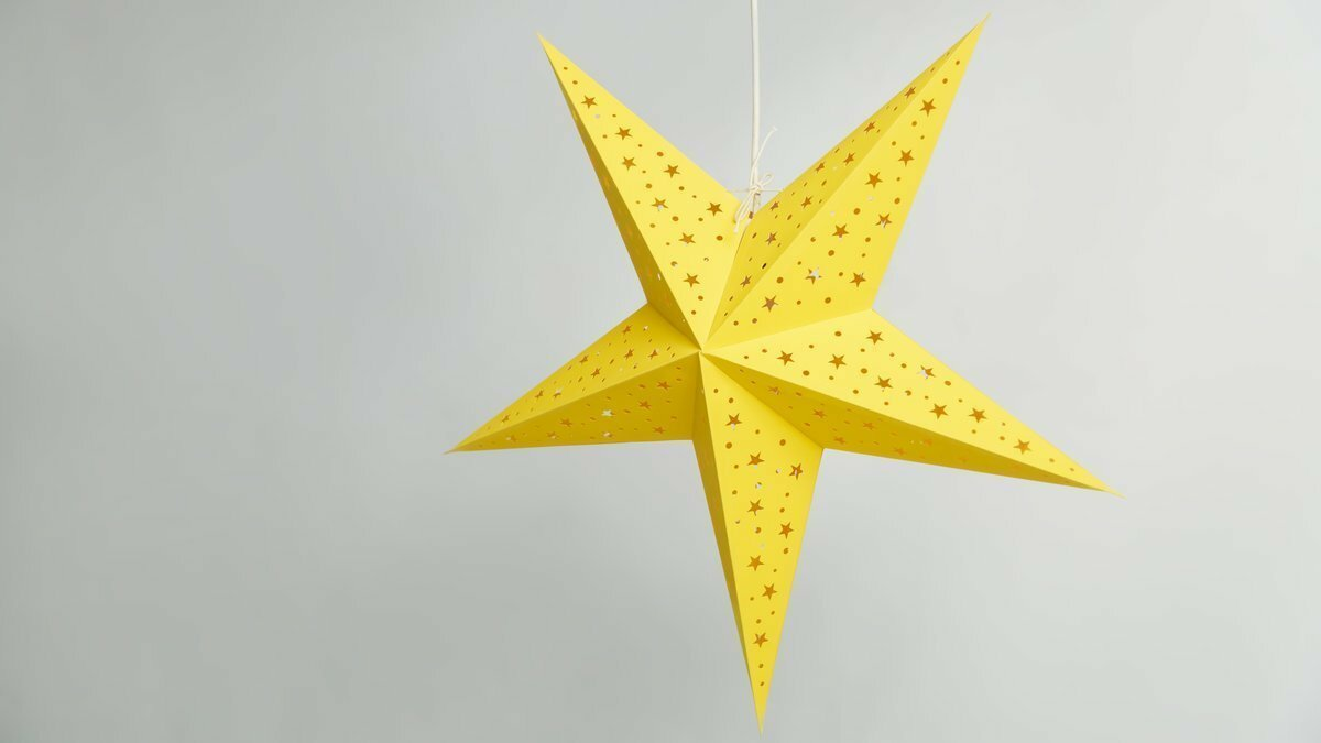 Starry Yellow Paper Star Party Decorations