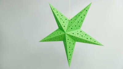 Starry Green Paper Star Party Decorations
