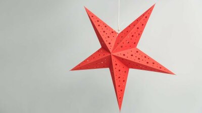 Starry Red Paper Star Party Decorations