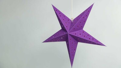 Starry Violet Paper Star Party Decorations