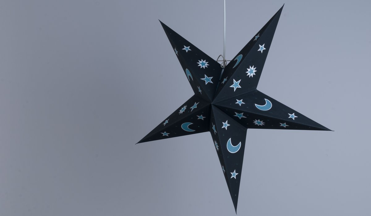 Sky Black Night Paper Star Party Decorations