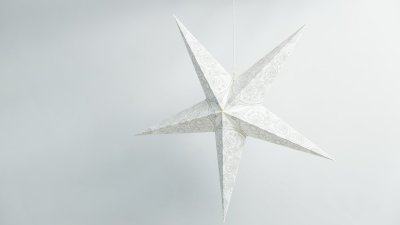 Deluxe Lanterns Ivory Lace Paper Star Party Decorations