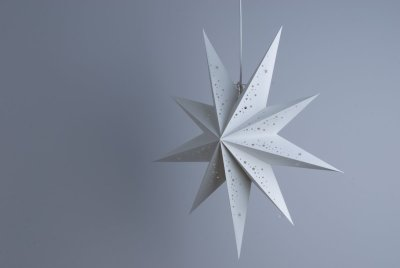 Deluxe Lanterns Prosecco White Paper Star Party Decorations