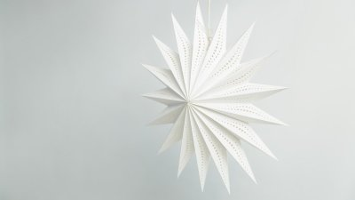 Deluxe Lanterns Sunny White Paper Star Party Decorations