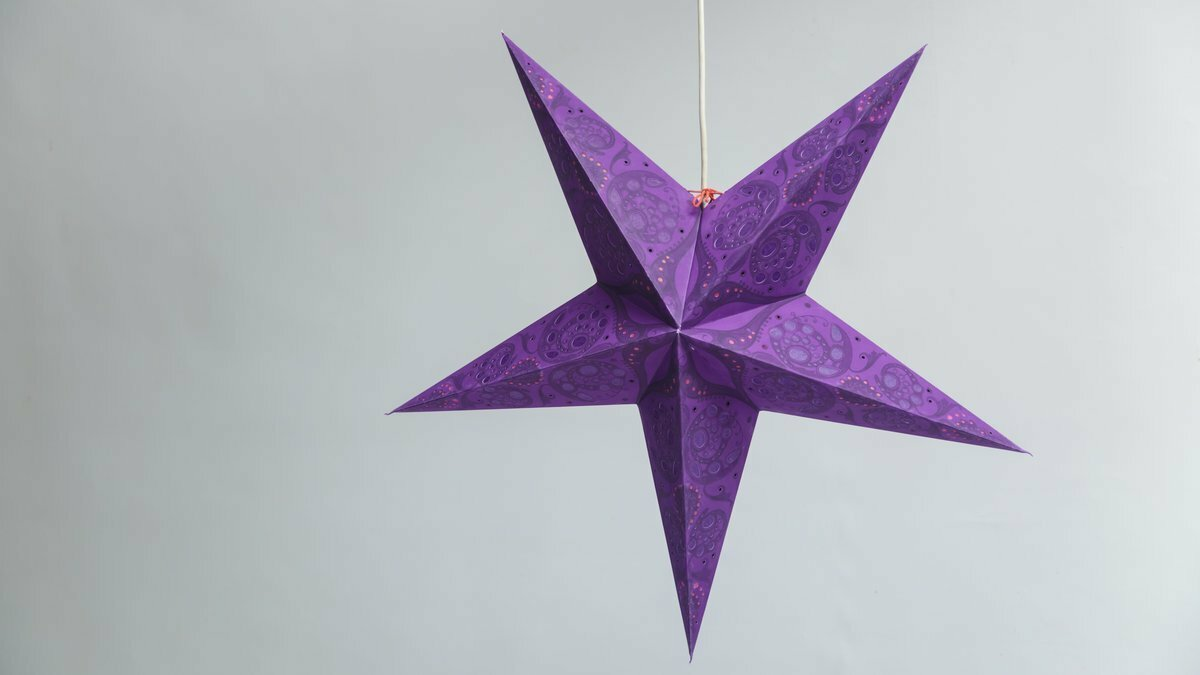 Lace Violet Paper Star Party Decorations