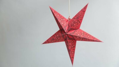 Lace Red Paper Star Party Decorations