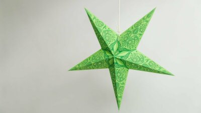 Lace Green Paper Star Party Decorations