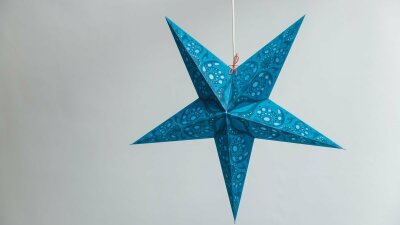 Lace Teal Paper Star Party Decorations