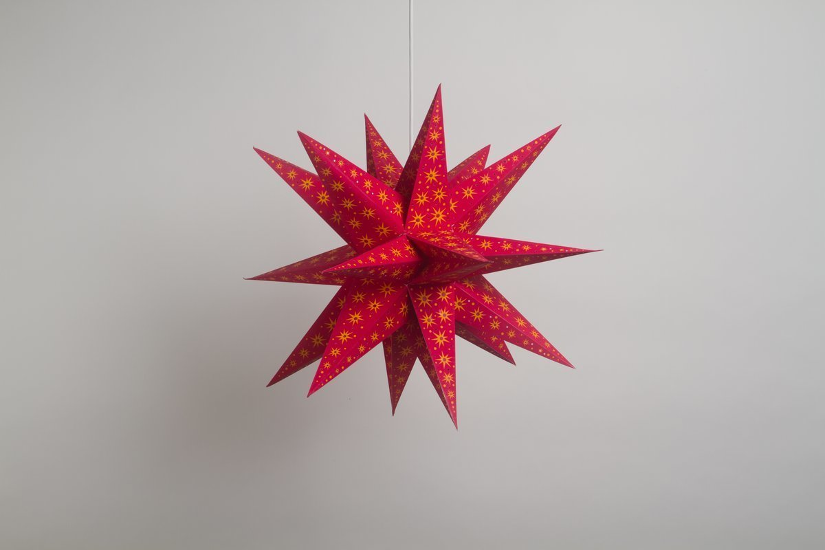 Supernova Fiesta Red Paper Star Party Decorations