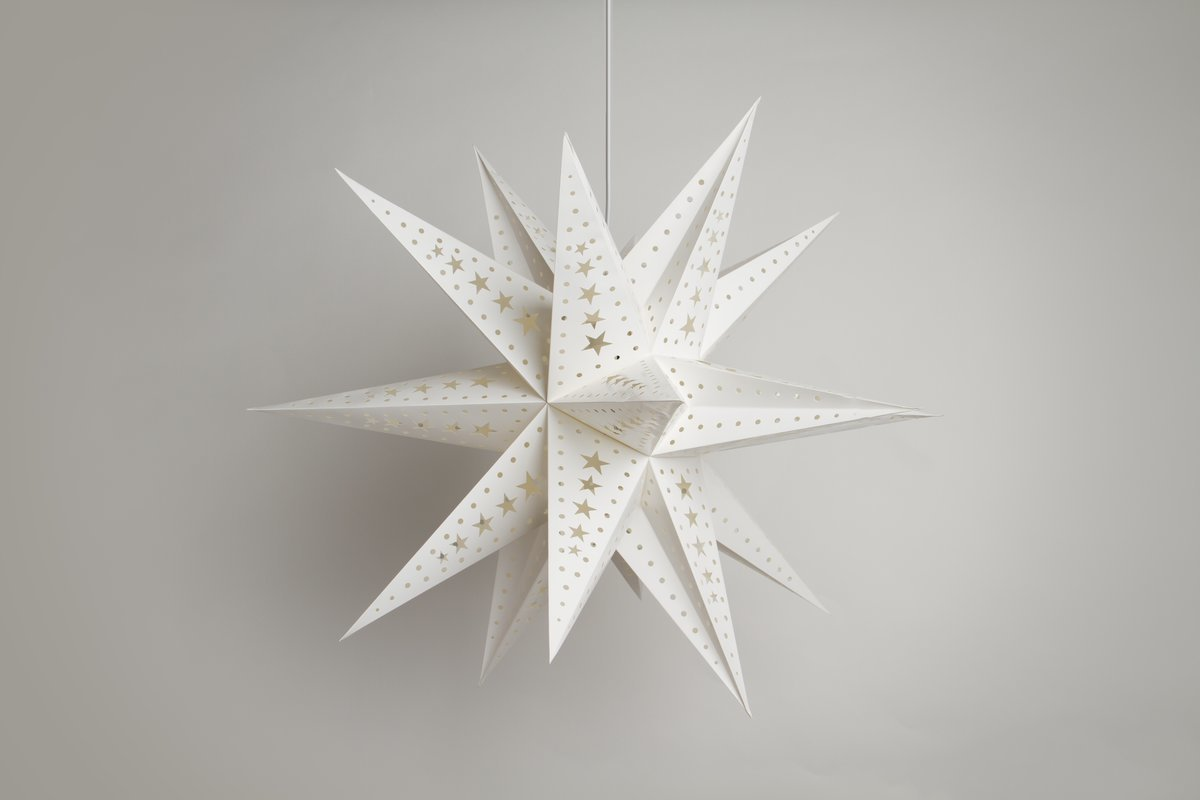 Supernova White Paper Star Party Decorations