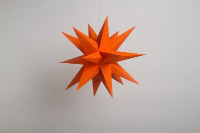Supernova Orange Paper Star Party Decorations