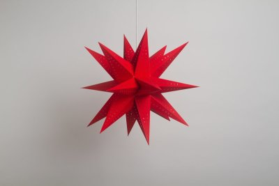 Supernova Red Paper Star Party Decorations