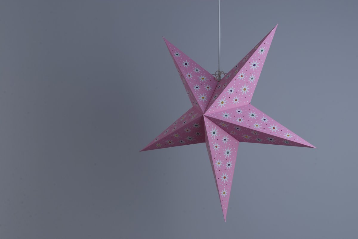 Fiesta Pink Paper Star Party Decorations