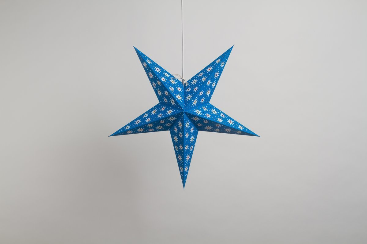 Fiesta Sea Blue Paper Star Party Decorations
