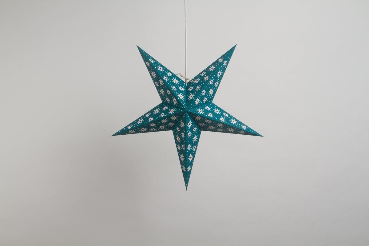Fiesta Turquoise Paper Star Party Decorations