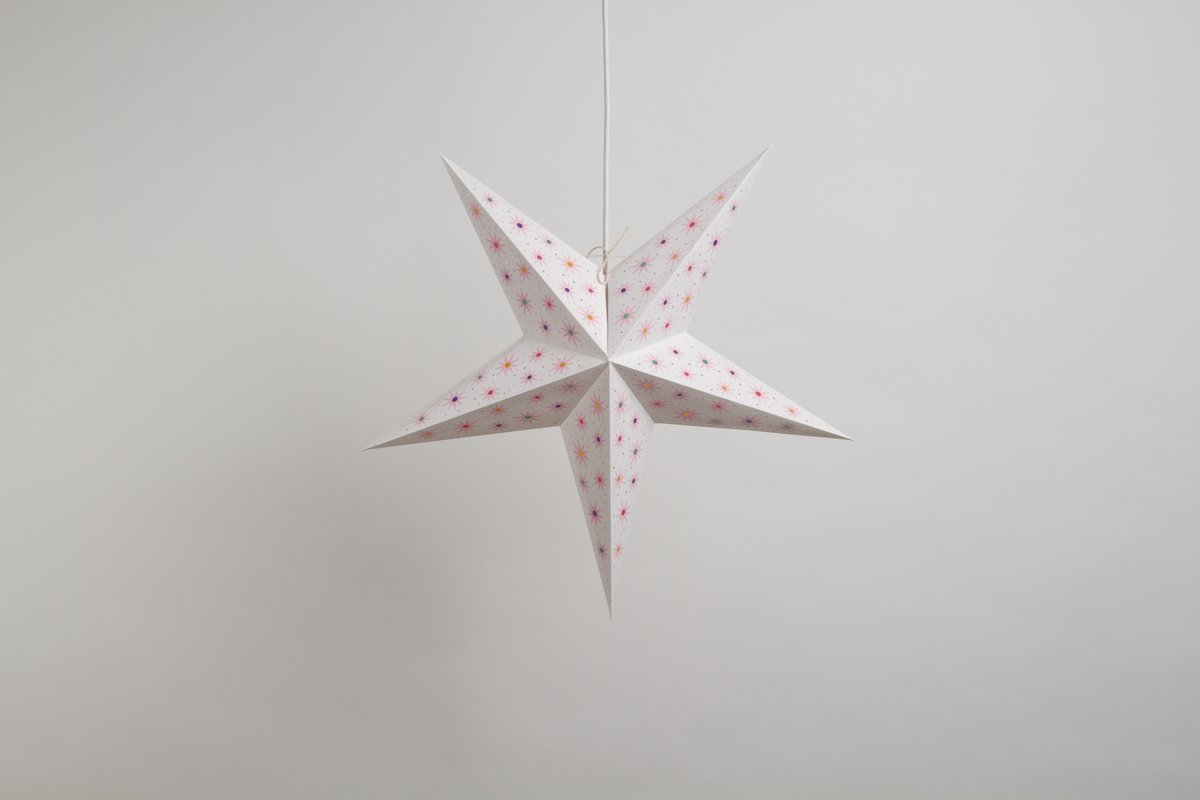 Fiesta White Paper Star Party Decorations
