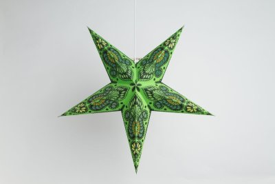 Peacock  Green Paper Star Party Decorations