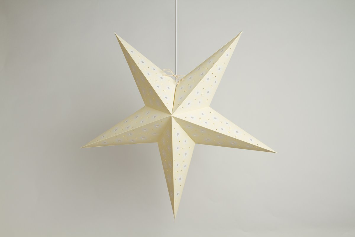 Aster Sandstone Paper Star Party Decorations