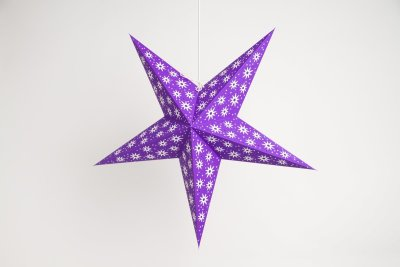 Aster Violet Paper Star Party Decorations