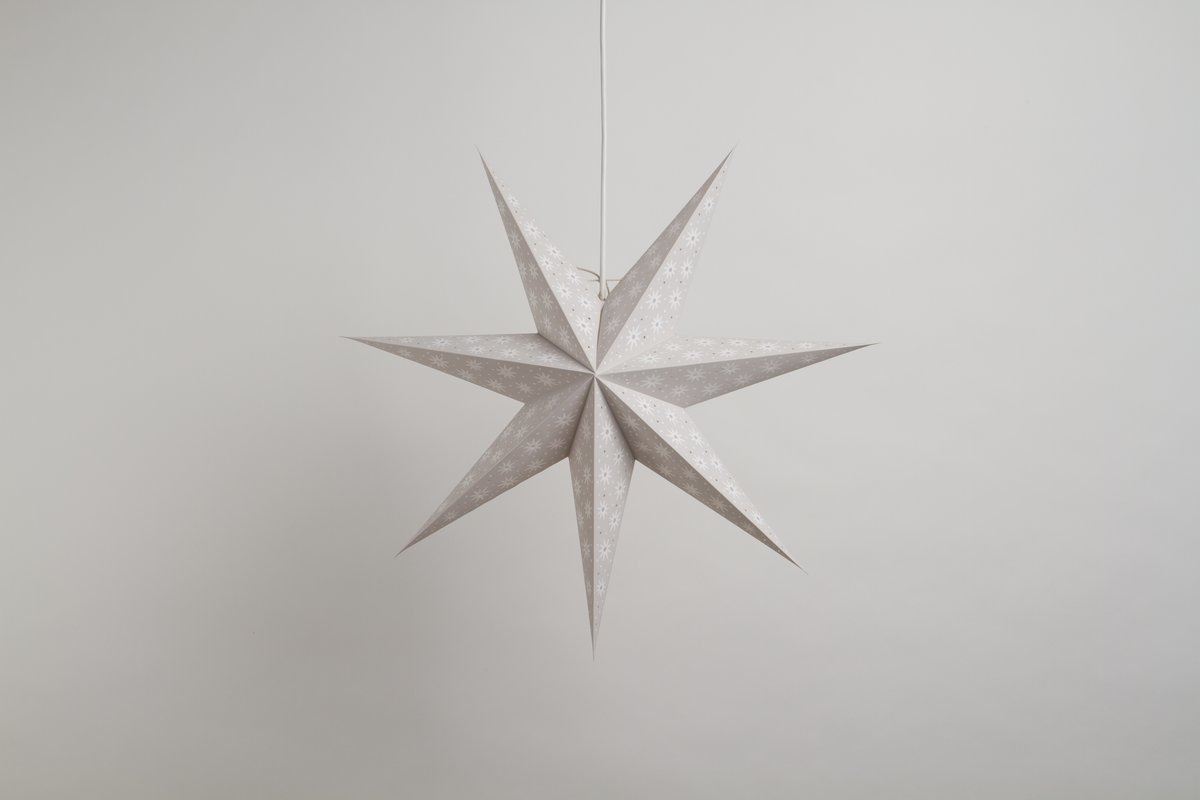 Spirit Pebble Grey Paper Star Party Decorations