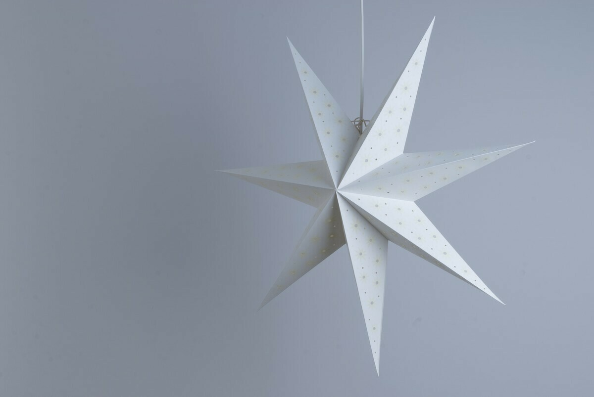 Spirit White and Parchment Paper Star Party Decorations