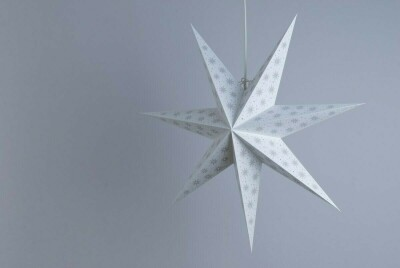 Spirit Pearl White and Oyster Grey Paper Star Party Decorations