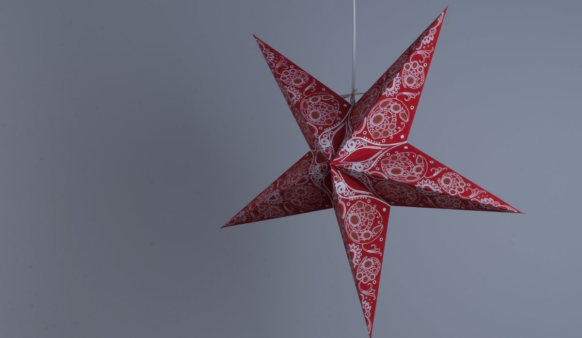 Damask Scarlet Paper Star Party Decorations