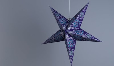 Damask Cobalt Blue Paper Star Party Decorations