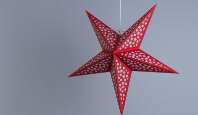 Mosaic Bright Red and White Paper Star Party Decorations