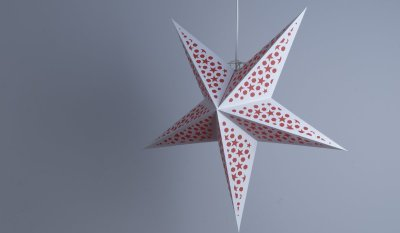 Mosaic Electric Scarlet Paper Star Party Decorations