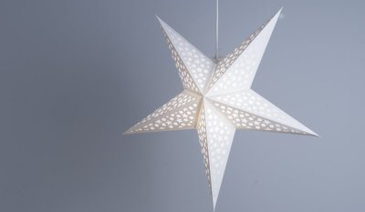 Mosaic Porcelain White Paper Star Party Decorations