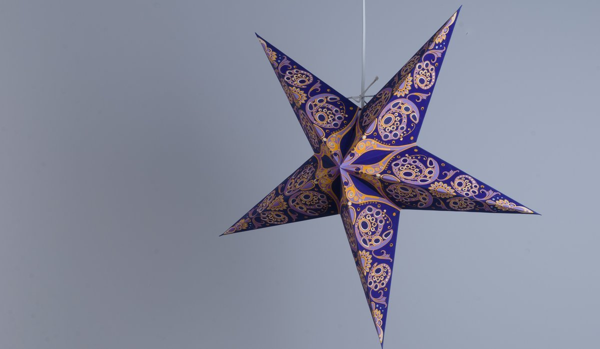 Phoenix Royal Violet Paper Star Party Decorations