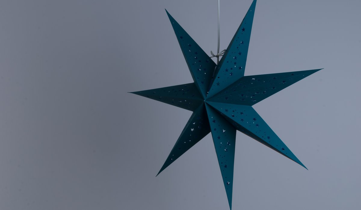 Venus Cool Teal Paper Star Party Decorations