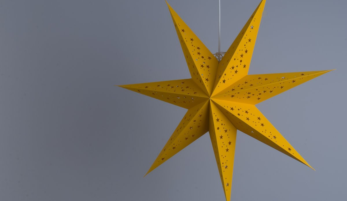 Venus Sunshine Yellow Paper Star Party Decorations