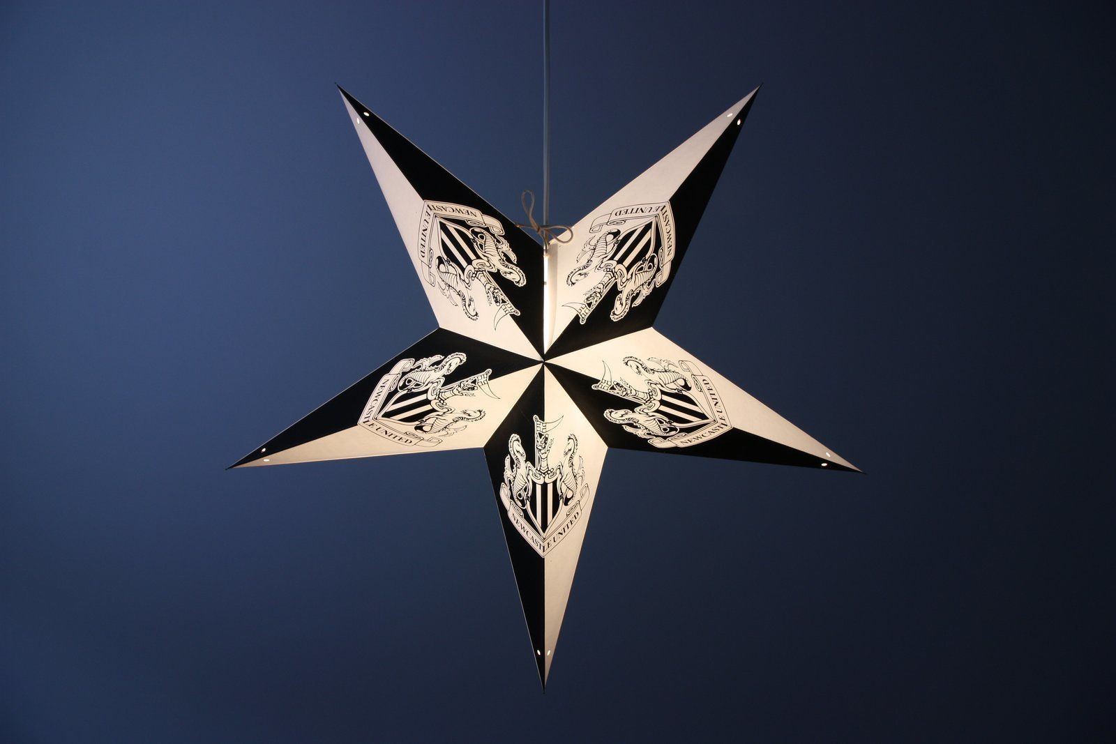 Exclusive newcastle united football club paper star lanterns limited edition newcastle united football club decorative paper star light shade aloadofball Gallery