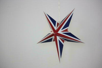 Limited Edition Union Jack Paper Star Party Decorations