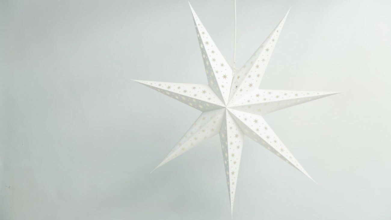 North Star Brilliant White Paper Star Party Decorations