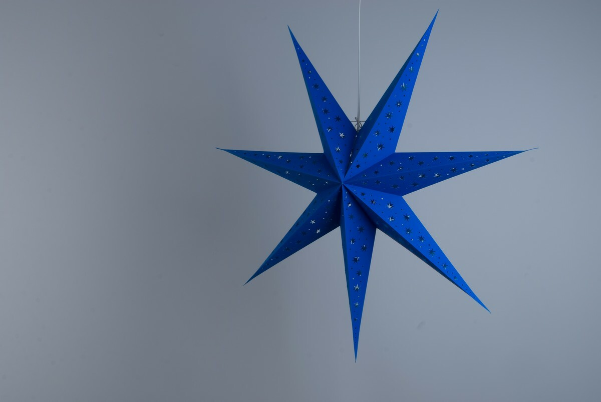 North Star Azure Blue Paper Star Party Decorations