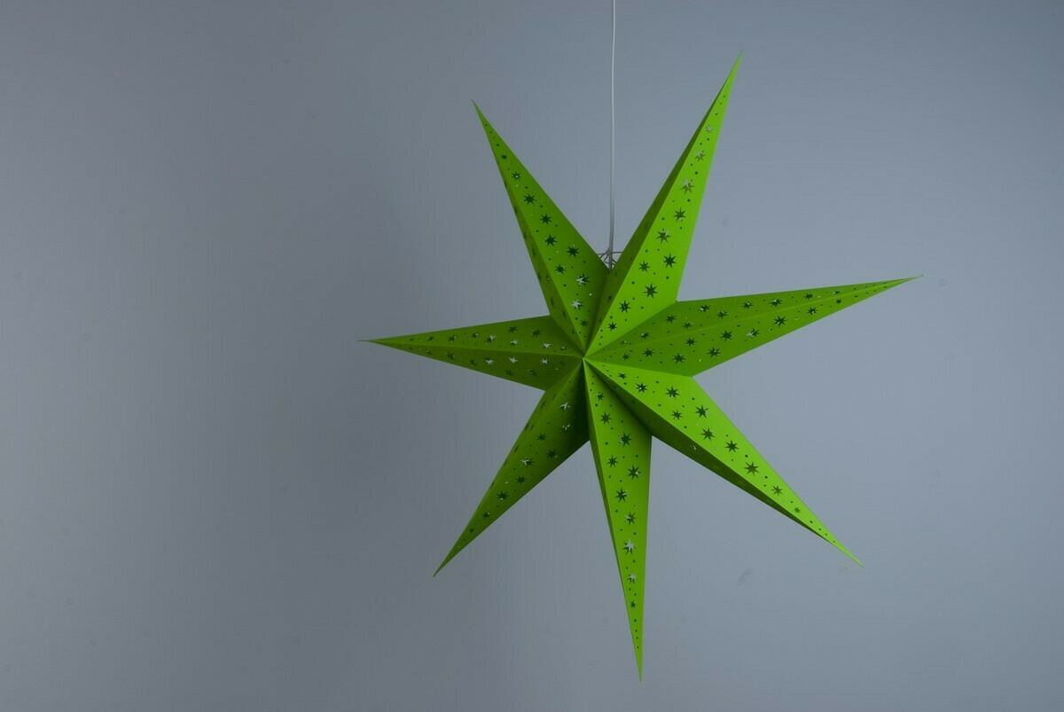 North Star Fresh Green Paper Star Party Decorations