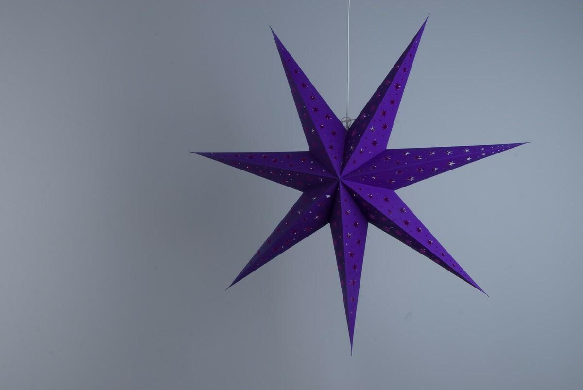 North Star Twilight Violet Paper Star Party Decorations