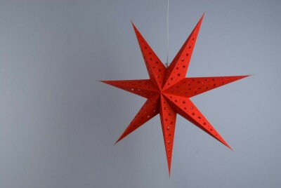 North Star Scarlet Paper Star Party Decorations