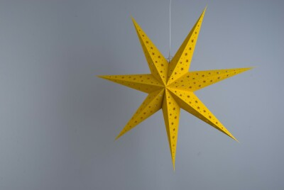 North Star Sunburst Yellow Paper Star Party Decorations