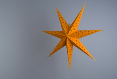 North Star Tangy Orange Paper Star Party Decorations