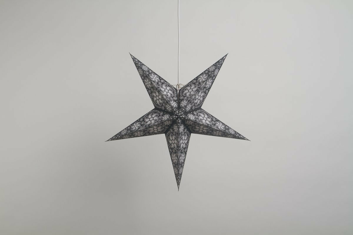 Firework Black & White Paper Star Party Decorations